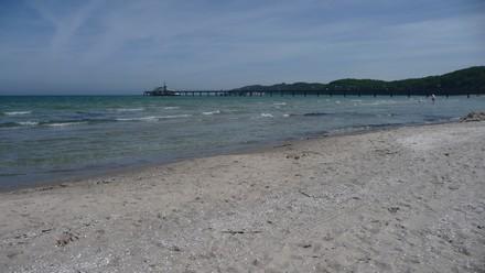 Strand und Seebrücke von Binz