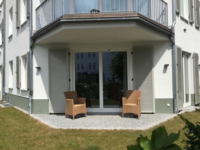 Terrasse und Garten Wohnung 13
